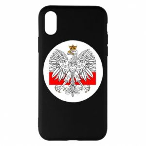 Phone case for iPhone X/Xs Polish emblem and flag of Poland - PrintSalon