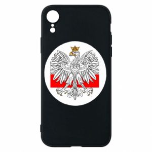 Phone case for iPhone XR Polish emblem and flag of Poland - PrintSalon