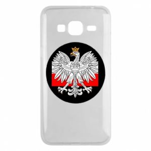 Phone case for Samsung J3 2016 Polish emblem and flag of Poland - PrintSalon