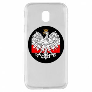 Phone case for Samsung J3 2017 Polish emblem and flag of Poland - PrintSalon