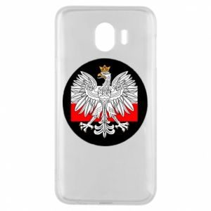 Phone case for Samsung J4 Polish emblem and flag of Poland - PrintSalon
