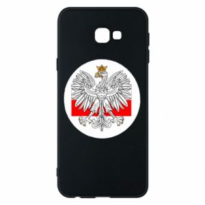 Phone case for Samsung J4 Plus 2018 Polish emblem and flag of Poland - PrintSalon