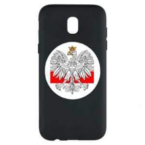 Phone case for Samsung J5 2017 Polish emblem and flag of Poland - PrintSalon