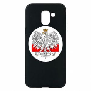 Phone case for Samsung J6 Polish emblem and flag of Poland - PrintSalon