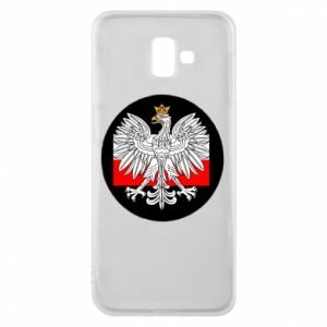 Phone case for Samsung J6 Plus 2018 Polish emblem and flag of Poland - PrintSalon
