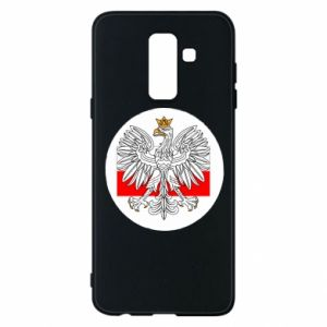 Phone case for Samsung A6+ 2018 Polish emblem and flag of Poland - PrintSalon