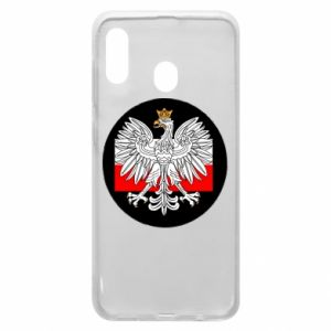 Phone case for Samsung A20 Polish emblem and flag of Poland - PrintSalon