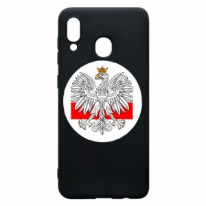 Phone case for Samsung A30 Polish emblem and flag of Poland - PrintSalon