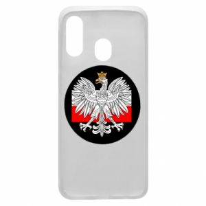 Phone case for Samsung A40 Polish emblem and flag of Poland - PrintSalon
