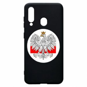 Phone case for Samsung A60 Polish emblem and flag of Poland - PrintSalon