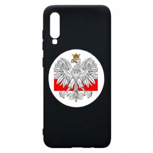 Phone case for Samsung A70 Polish emblem and flag of Poland - PrintSalon