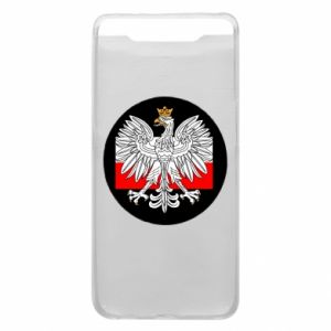 Phone case for Samsung A80 Polish emblem and flag of Poland - PrintSalon