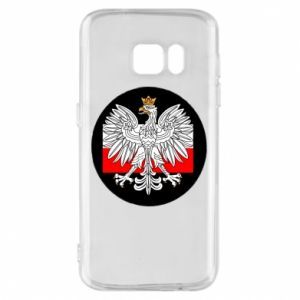 Phone case for Samsung S7 Polish emblem and flag of Poland - PrintSalon