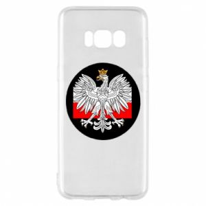 Phone case for Samsung S8 Polish emblem and flag of Poland - PrintSalon