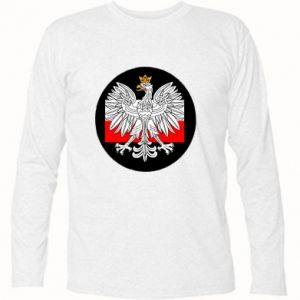 Long Sleeve T-shirt Polish emblem and flag of Poland - PrintSalon