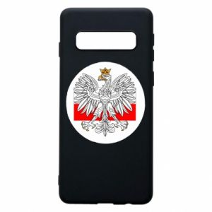 Phone case for Samsung S10 Polish emblem and flag of Poland - PrintSalon