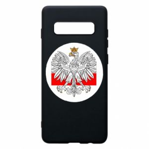 Phone case for Samsung S10+ Polish emblem and flag of Poland - PrintSalon