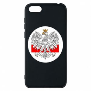 Phone case for Huawei Y5 2018 Polish emblem and flag of Poland - PrintSalon