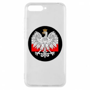 Phone case for Huawei Y6 2018 Polish emblem and flag of Poland - PrintSalon