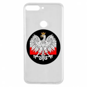 Phone case for Huawei Y7 Prime 2018 Polish emblem and flag of Poland - PrintSalon