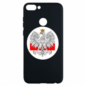 Phone case for Huawei P Smart Polish emblem and flag of Poland - PrintSalon