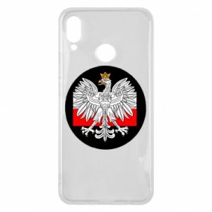 Phone case for Huawei P Smart Plus Polish emblem and flag of Poland - PrintSalon