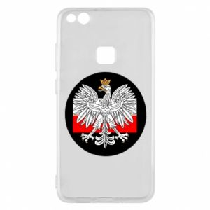 Phone case for Huawei P10 Lite Polish emblem and flag of Poland - PrintSalon