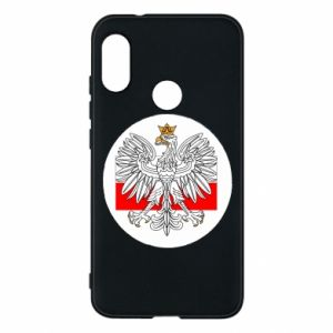 Phone case for Mi A2 Lite Polish emblem and flag of Poland - PrintSalon