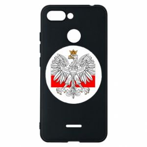 Phone case for Xiaomi Redmi 6 Polish emblem and flag of Poland - PrintSalon
