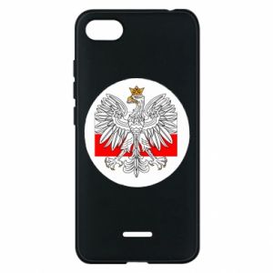 Phone case for Xiaomi Redmi 6A Polish emblem and flag of Poland - PrintSalon