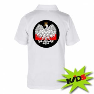 Children's Polo shirts Polish emblem and flag of Poland - PrintSalon
