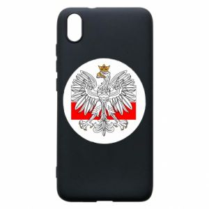 Phone case for Xiaomi Redmi 7A Polish emblem and flag of Poland - PrintSalon