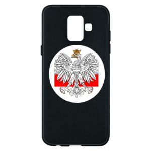 Phone case for Samsung A6 2018 Polish emblem and flag of Poland - PrintSalon