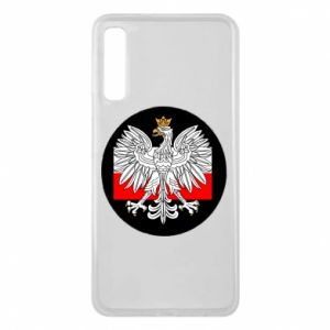 Phone case for Samsung A7 2018 Polish emblem and flag of Poland - PrintSalon
