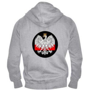 Men's zip up hoodie Polish emblem and flag of Poland - PrintSalon