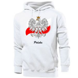 Men's hoodie Poland Fighting against the background of the flag