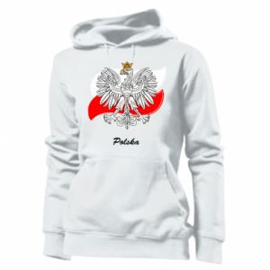 Women's hoodies Poland Fighting against the background of the flag