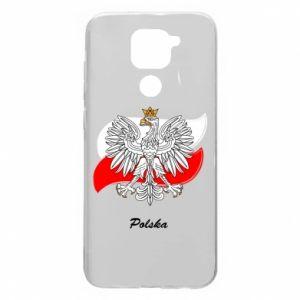 Etui na Xiaomi Redmi Note 9/Redmi 10X Herb Polski na tle flagi
