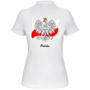 Women's Polo shirt Poland Fighting against the background of the flag