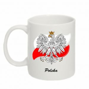 Mug 330ml Poland Fighting against the background of the flag