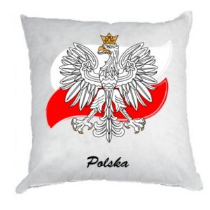 Pillow Poland Fighting against the background of the flag