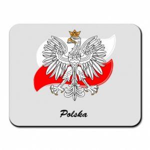 Podkładka pod mysz Herb Polski na tle flagi