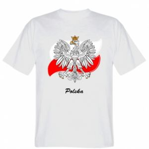 T-shirt Poland Fighting against the background of the flag