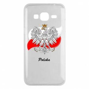 Etui na Samsung J3 2016 Herb Polski na tle flagi