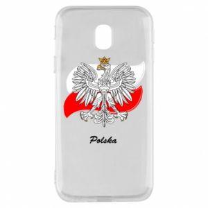 Etui na Samsung J3 2017 Herb Polski na tle flagi