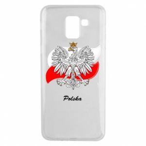 Etui na Samsung J6 Herb Polski na tle flagi