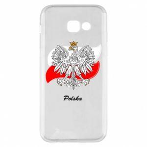 Etui na Samsung A5 2017 Herb Polski na tle flagi
