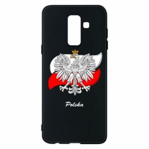Phone case for Samsung A6+ 2018 Poland Fighting against the background of the flag