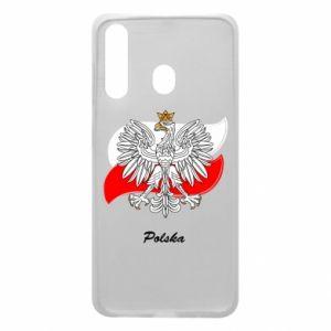 Etui na Samsung A60 Herb Polski na tle flagi