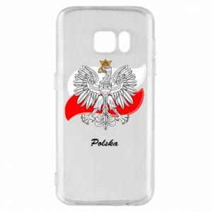 Etui na Samsung S7 Herb Polski na tle flagi
